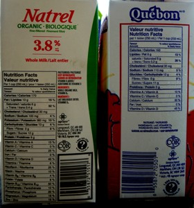 Organic and Regular Milk Ingredients